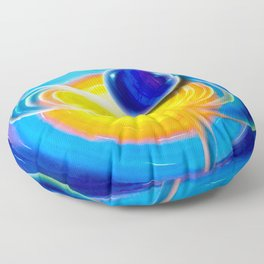 Abstract perfection - Circle Floor Pillow