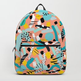CIRCLES IN MOTION - peach/ yellow/ mint Backpack