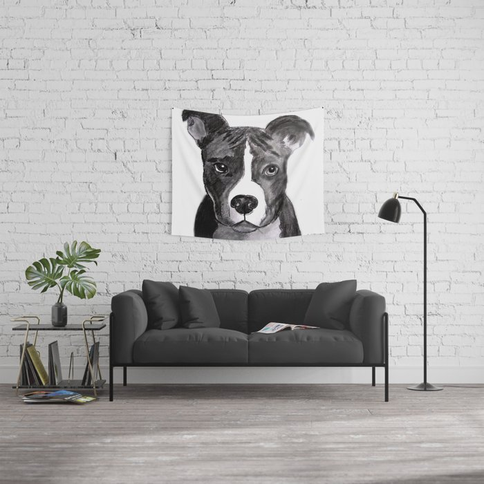 Pit Bull Dogs Lovers Wall Tapestry