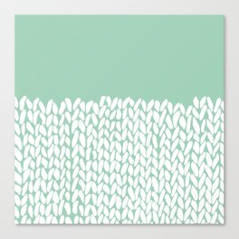 Half Knit Mint Canvas Print