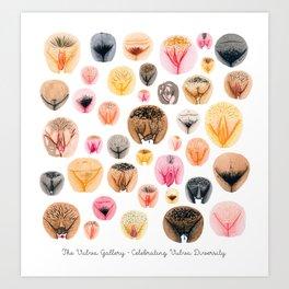 Vulva Variety I Art Print