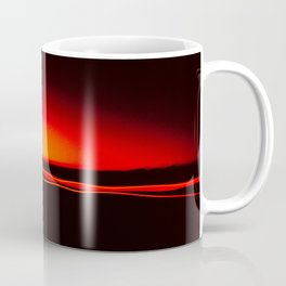 Night Lights Four Red Tail Lights Coffee Mug