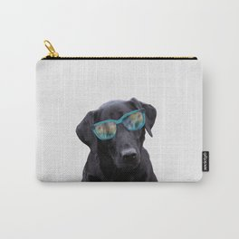 Labrador Dog - turquoise Sunclases Carry-All Pouch