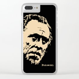 Bukowski#! Clear iPhone Case