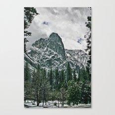 Yosemite a Snowy El Capitan Canvas Print