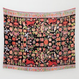 Täcke Antique Swedish Skåne Wedding Blanket Wall Tapestry