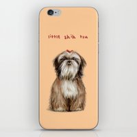 shih tzu iPhone & iPod Skins featuring Shih Tzu by Katherine Coulton