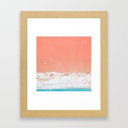 pink sand beach Framed Art Print