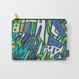 Feel This Real Forever (green) Carry-All Pouch