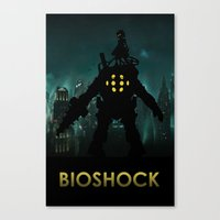 bioshock Canvas Prints featuring Bioshock by Pixel Design