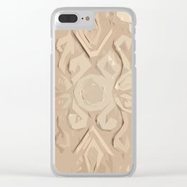 Ukrainian Carving Cutout Pine Wood Clear iPhone Case