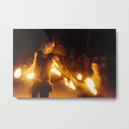 Man of fire Metal Print
