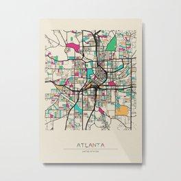Colorful City Maps: Atlanta, Georgia Metal Print