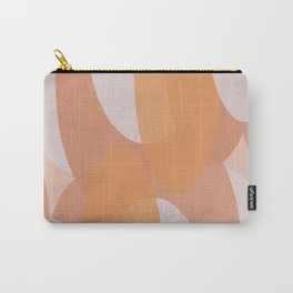 Progression Soft Abstract Pattern in Blush Pink and Orange Carry-All Pouch