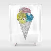 ships Shower Curtains featuring Loose Drips Sink Ships by The Lola x Kenneth Collaboration