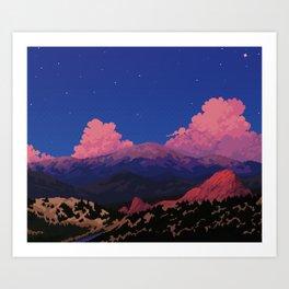 Sunset at Garden of the Gods Art Print