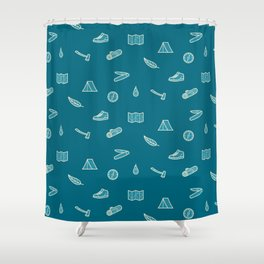 Outdoor Icons Shower Curtain