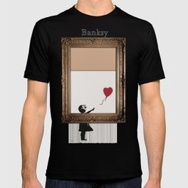 Girl With the Red Balloon Banksy Shredded T-shirt