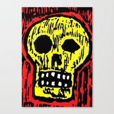 WOODCUT: Skull Canvas Print