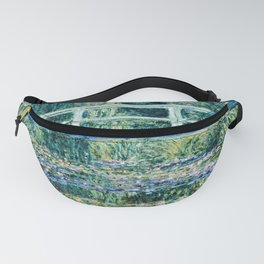 Claude Monet - Water Lilies And Japanese Bridge Fanny Pack