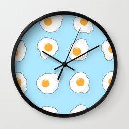 broken eggs Wall Clock
