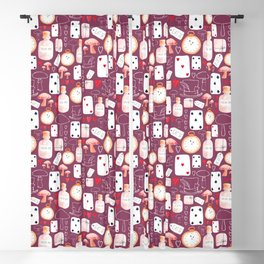 Alice in Wonderland - Purple Madness Blackout Curtain