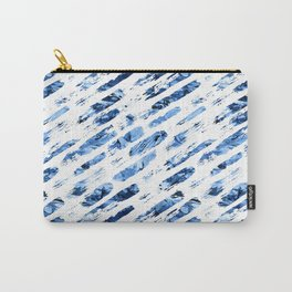 Watercolor blue brush rain Carry-All Pouch