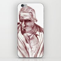 actor iPhone & iPod Skins featuring 1898 Stage actor by seb mcnulty