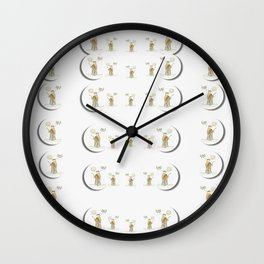 angels under the  sun and peace doves Wall Clock
