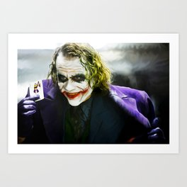 The Joker (TDK) Digital Painting  Art Print