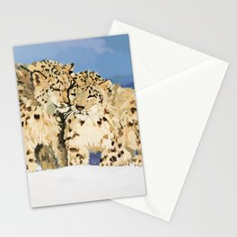 Snow leopards Stationery Cards