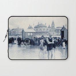 On the beach in 1900, history swimwear Laptop Sleeve