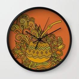 Yerba Mate In The Gourd Wall Clock