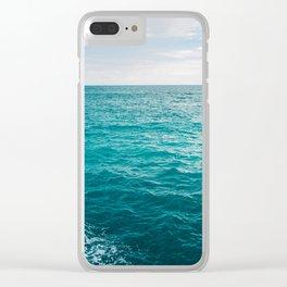 Amalfi Coast Water XVII Clear iPhone Case