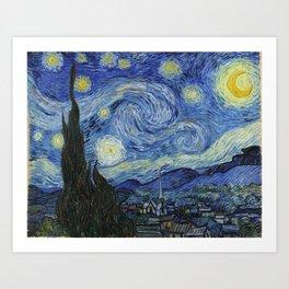 The Starry Night by Vincent van Gogh Art Print