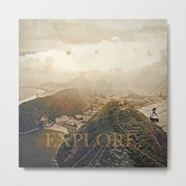 explore. golden Metal Print