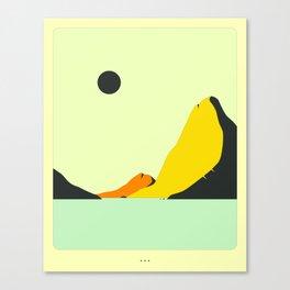 Minimal Landscape 23 (Seascape) Canvas Print