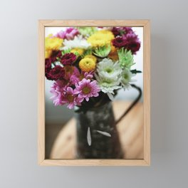 Spring Bouquet In a Vintage Pitcher Framed Mini Art Print