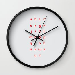 Windmill Alphabet Wall Clock