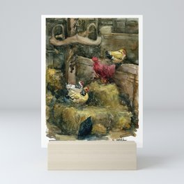 Prophetstown Chickens Mini Art Print