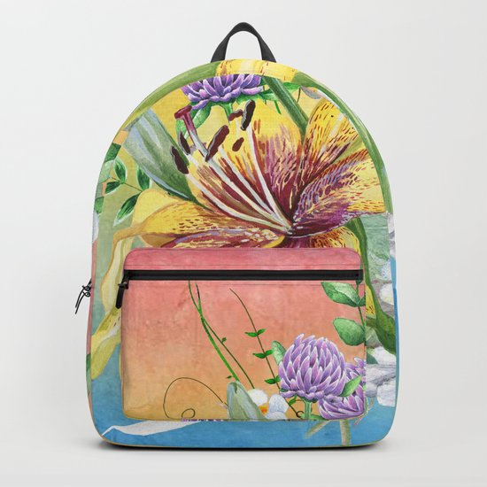Flowers bouquet #17 Backpack