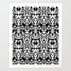 Rorschach madness Art Print