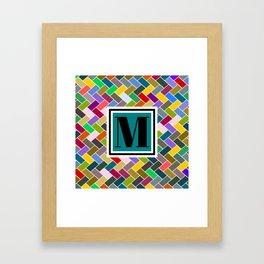 M Monogram Framed Art Print