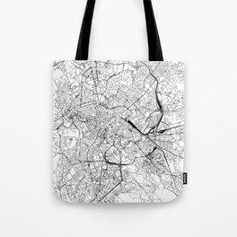 Rome White Map Tote Bag