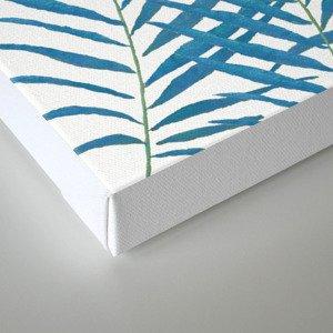 Fern Blue Canvas Print