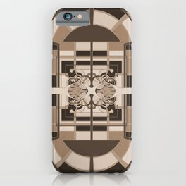 Brown Geometric Abstract iPhone Case