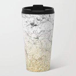Amalfi golden ombre marble Travel Mug