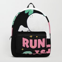 Running Is Magical Unicorn Saying Backpack