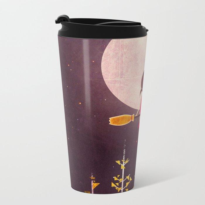 A Little Night Wanderer Metal Travel Mug