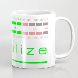 Led audio level meters design Equalize Coffee Mug